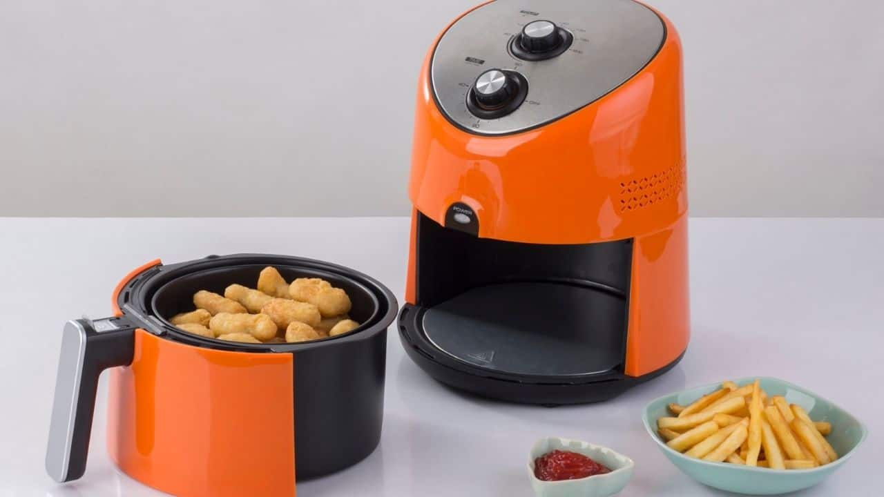 how to stack food in an air fryer